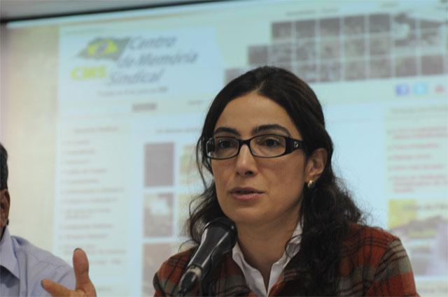 Carolina Maria Ruy, do Centro de Cultura e Memória Sindical / Crédito: -